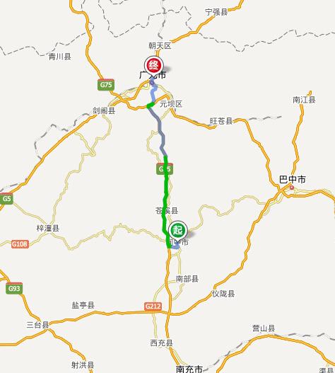 昭化区乡镇地图