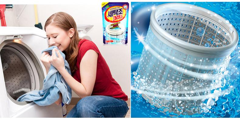 山精灵韩国进口山鬼洗衣机槽清洗剂杀菌清洁消毒粉液